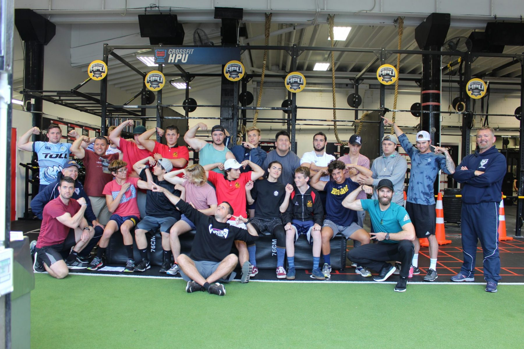 Rugby Tours New Zealand gym team photo semi final
